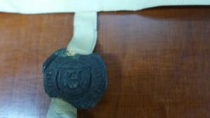 Schließlich musste doch ein Siegel die Richtigkeit bezeugen. Das Siegel des Richters, Nordkirchen Urkunden 467
